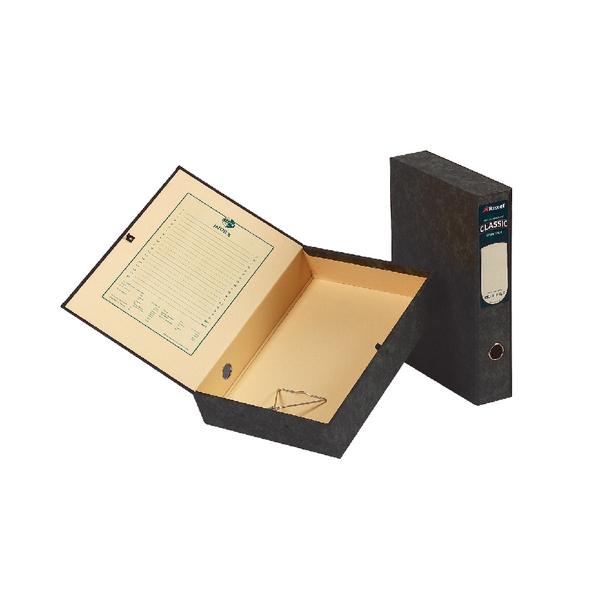 Rexel Classic Box File Lockspring Foolscap Black (Pack of 5) 30115EAST
