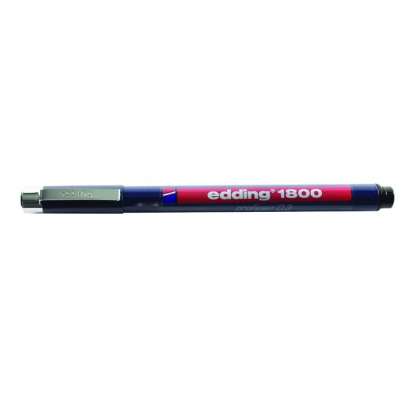 Edding Black Profipen 1800 0.3mm Technical Pen (Pack of 10) 1800-0.3-001