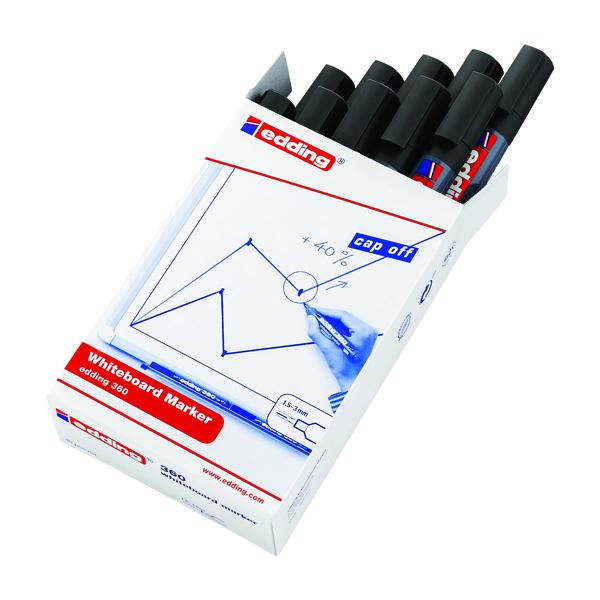 Edding 360 Drywipe Black Marker 4-360001