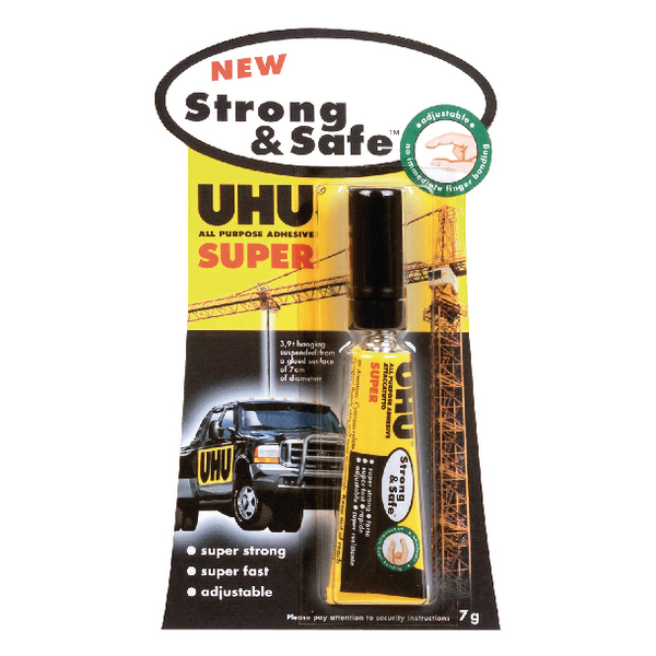 UHU All Purpose Strong and Safe Super Adhesive 7g (Pack of 12) 39722
