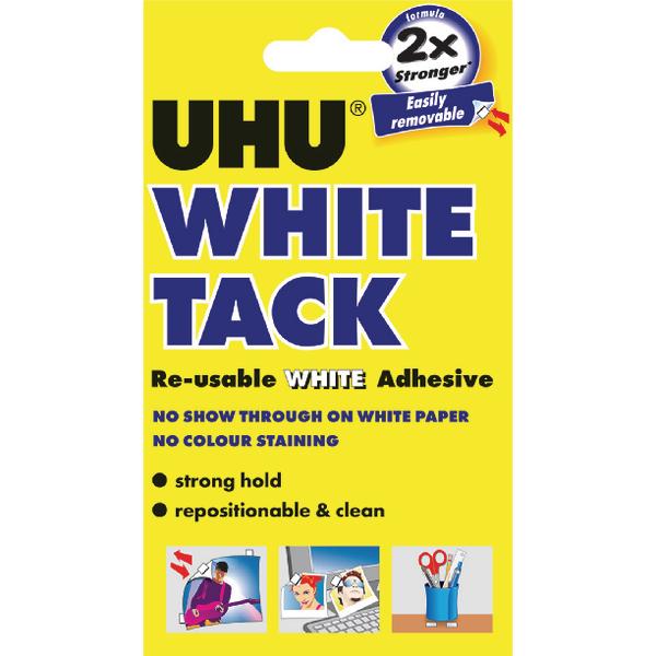 UHU White Tack 62g Handy Pack of 12 42196