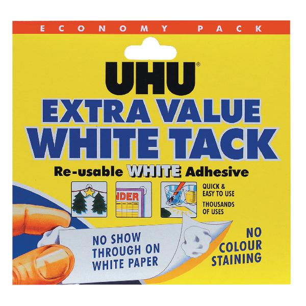 UHU White Tack 129g Economy Pack of 6 43527