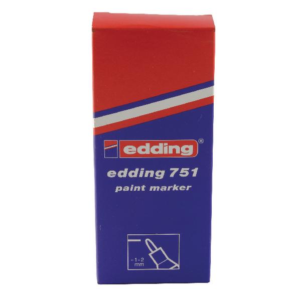 Edding 751 Fine Bullet Tip Silver Paint Marker (Pack of 10) 751-054