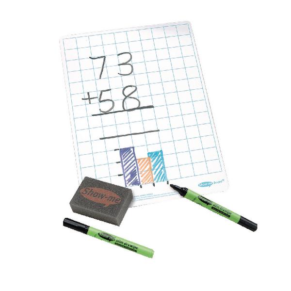 Show-me A4 Squared Whiteboard C/SQB