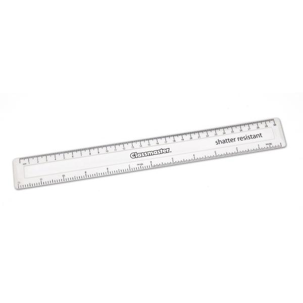 Classmaster 30cm Shatter Resistant Ruler White (Pack of 100) SPR30WH/100