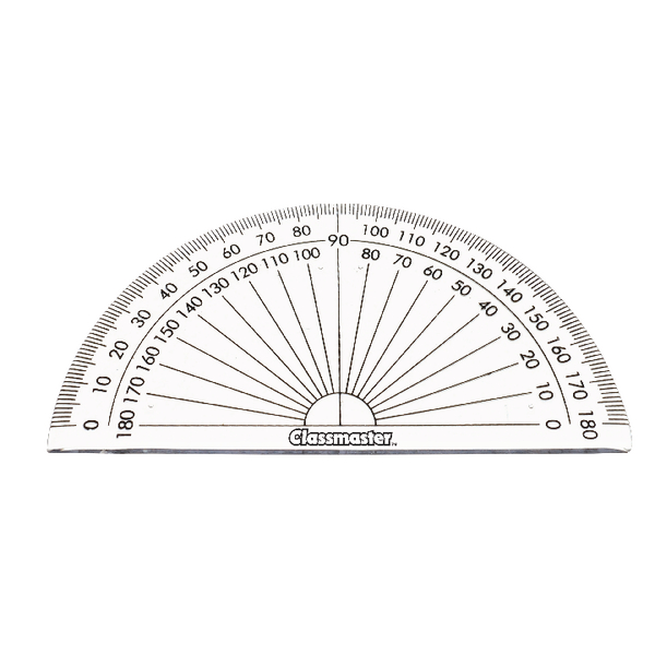 Classmaster 180 Degree Protractor Pack of 10 899595