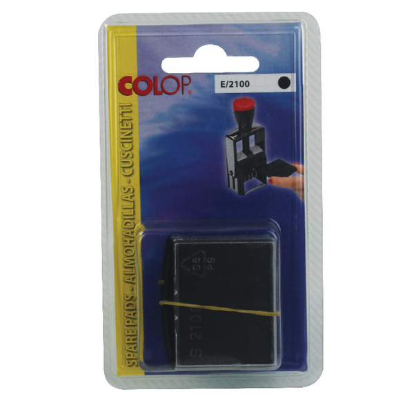 Colop E/2100 Replacement Stamp Pad Black (Pack of 2) E2100BK
