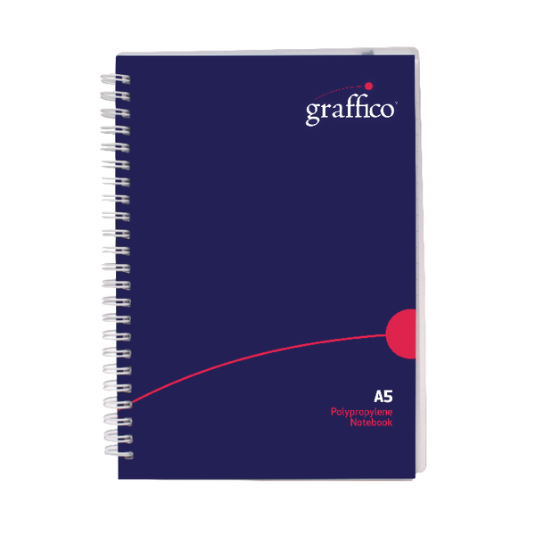 Graffico Twin Wire Board Cover A5 Notebook 160 Pages 500-0511