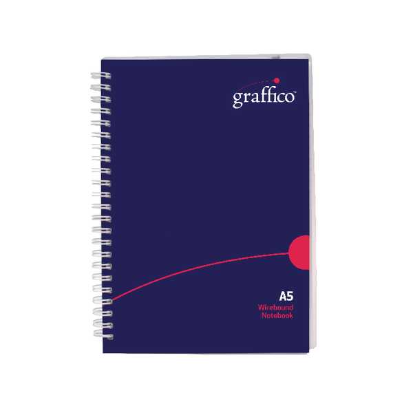 Graffico Twin Wire Polypropylene A5 Notebook 140 Pages 500-0505