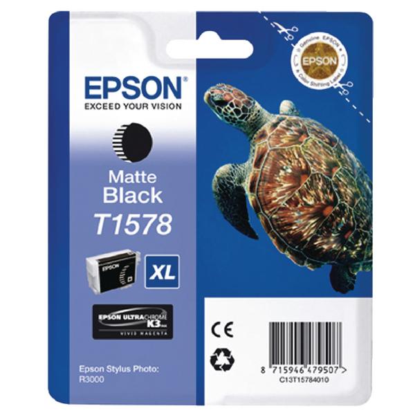 Epson T1578 Matte Black Inkjet Cartridge C13T15784010 / T1578