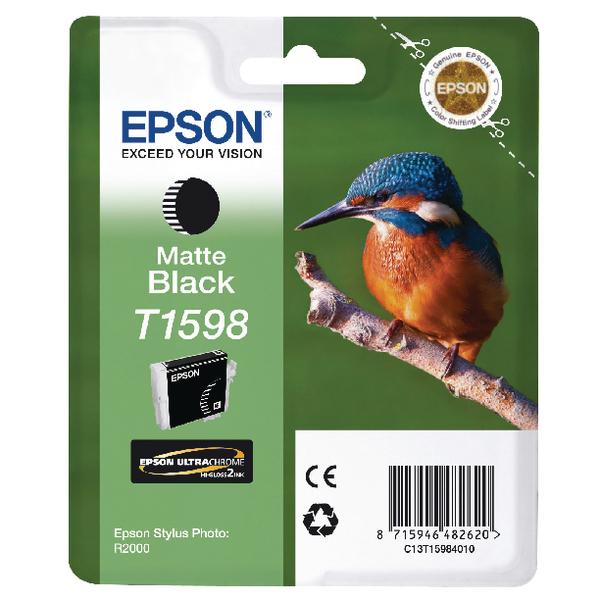 Epson T1598 Matte Black Inkjet Cartridge C13T15984010 / T1598