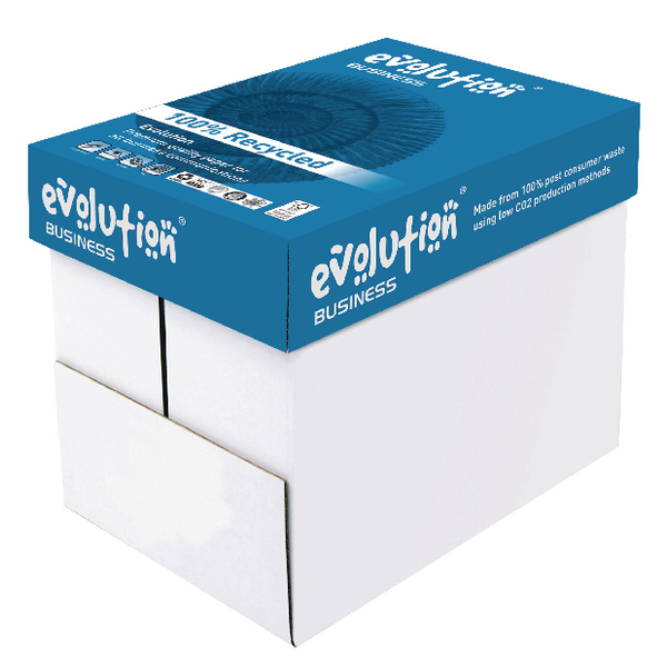 Evolution Business A4 Recycled Paper 80gsm White (Pack of 2500) EVBU2180