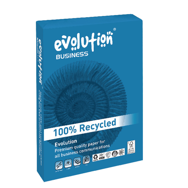 Evolution Business A4 Recycled Paper 100gsm White Ream EVBU21100 (Pack of 500)
