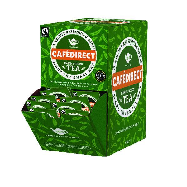 Cafedirect Fairtrade Everyday Tea Dispenser With 300 Tag and Envelope Tea Bags FTB0008