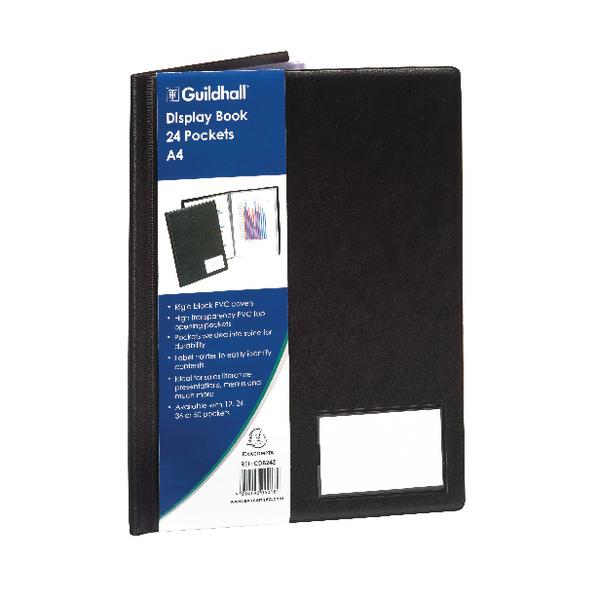 Guildhall A4 Display Book 24 Pocket Black CDB24Z