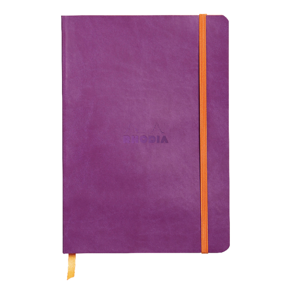 Rhodiarama Soft Cover A5 160 Pages Violet Notebook 117410C