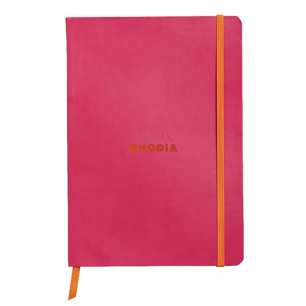 Rhodiarama Soft Cover A5 160 Pages Raspberry Notebook 117412C