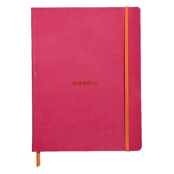Rhodiarama Soft Cover 190x250mm 160 Pages Raspberry Notebook 117512C