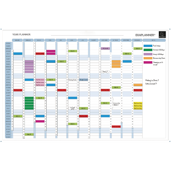 Exacompta Magnetic Perpetual Year Planner (Comes with magnets, magnet strips, pens and box) 56153E *Dated Products Non-Returnable*