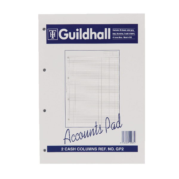 Guildhall 2-Column A4 Cash Account Pad GP2