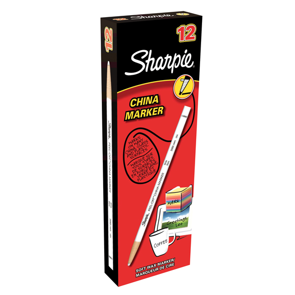 Sharpie China Marker White Pack of 12 S0305061