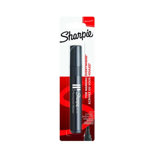 Sharpie Black W10 Permanent Marker Blister (Pack of 12) 1986458