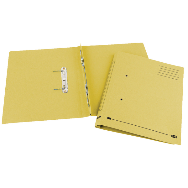 Elba Spirosort Foolscap Yellow Spring Files Pack of 25 100090163