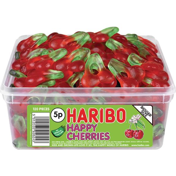 Haribo Giant Happy Cherries Tub 12244