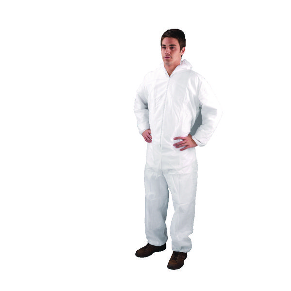 Non-Woven Coverall Large White DC03