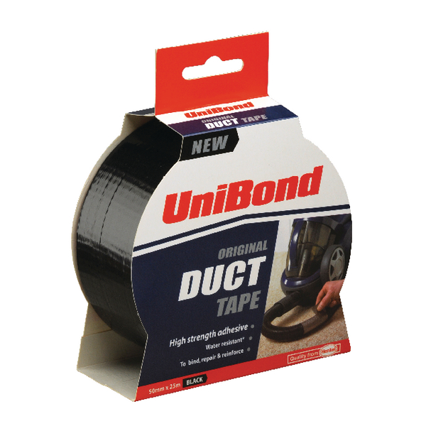 Unibond Duct Tape 50mm x25m Black 1517009