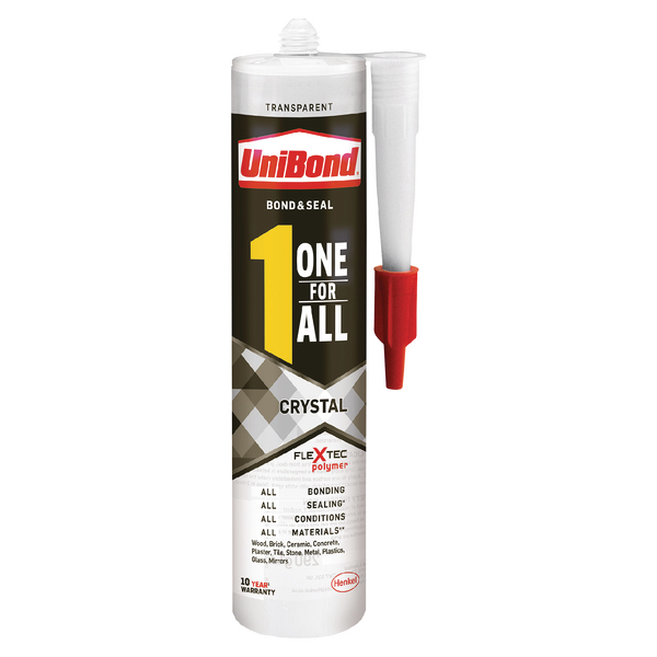 Unibond One For All Crystal Adhesive 390g 2003457