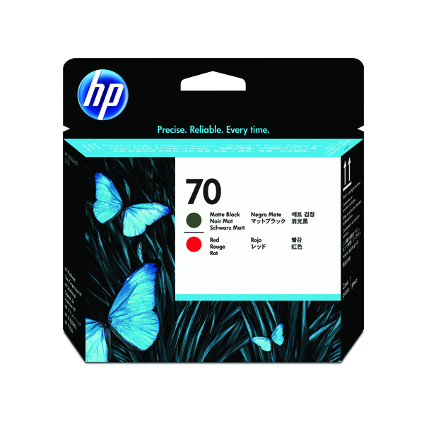 HP 70 Black /Red Printhead Twin Pack C9409A