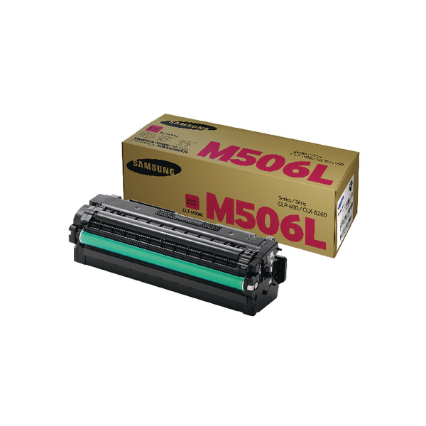 Samsung CLT-M506L Magenta High Yield Toner Cartridge SU305A