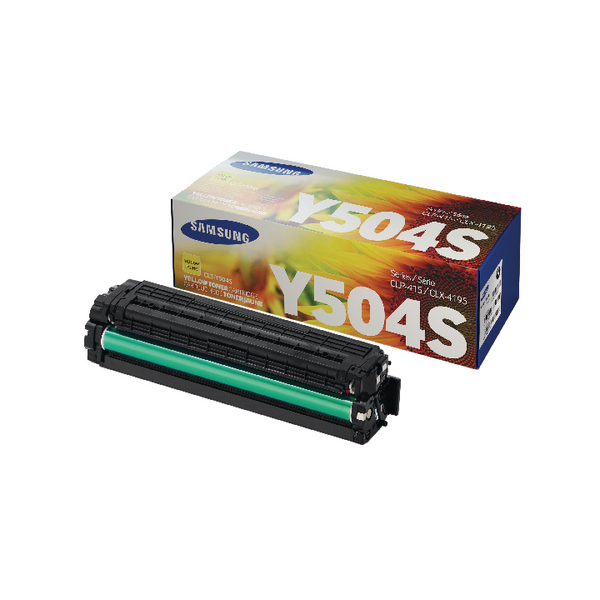 Samsung CLT-Y504S Yellow Standard Yield Toner Cartridge SU502A