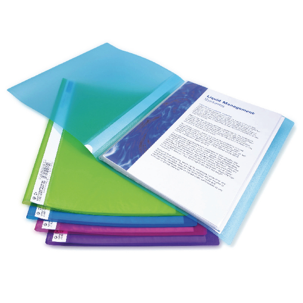 Rapesco A4 Flexi Display Book 20 Pocket Bright Assorted (Pack of 10) 0916