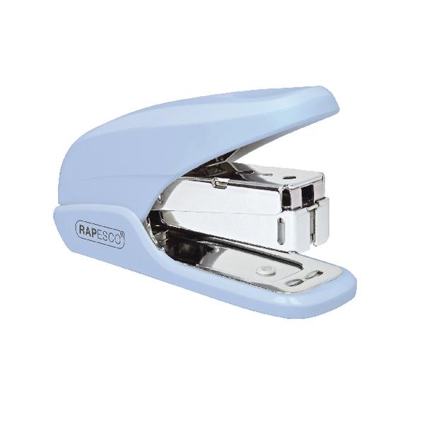 Rapesco X5 Mini Powder Blue Less Effort Stapler