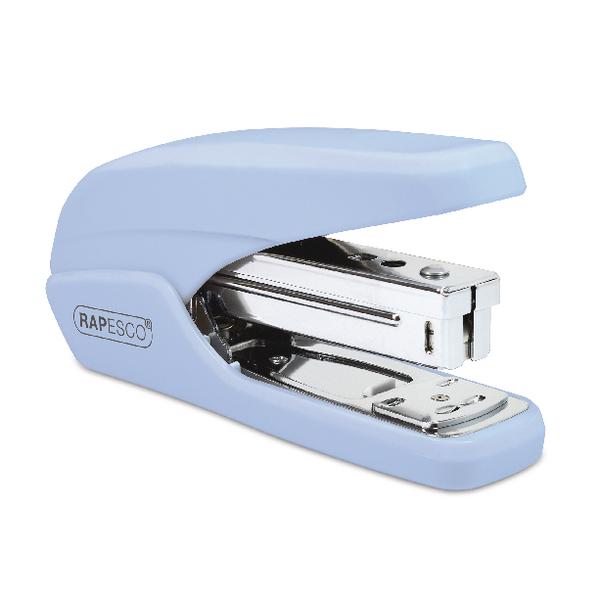 Rapesco X5 25ps Powder Blue Less Effort Stapler