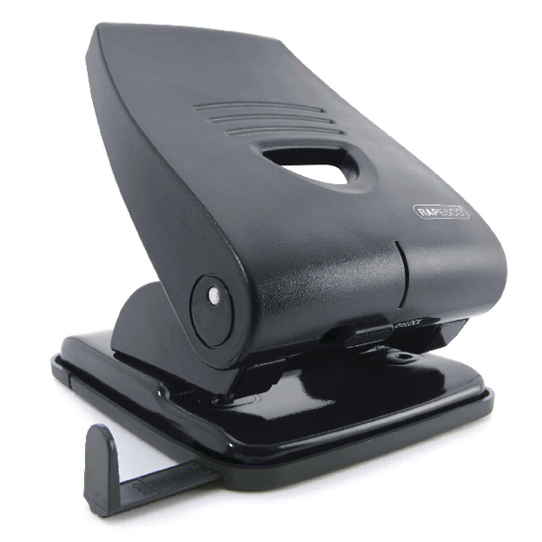 Rapesco 835-P Heavy Duty Hole Punch Black PF835PB2