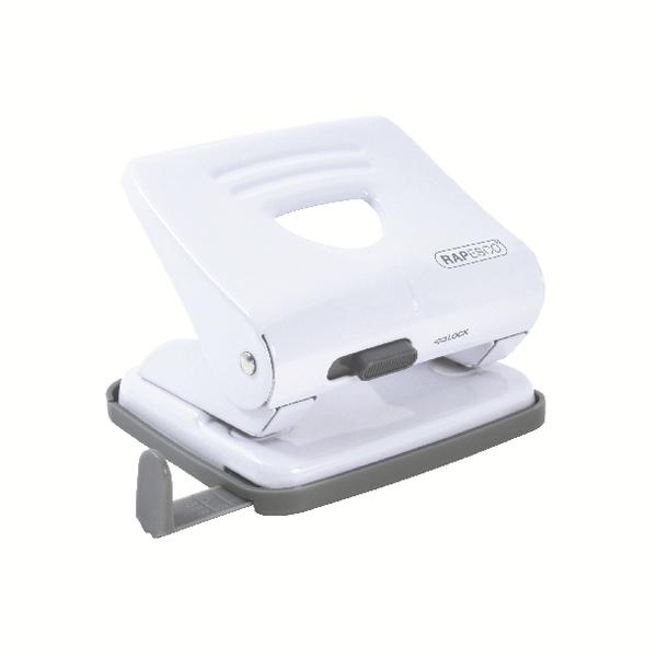 Rapesco 825 2 Hole Metal Punch White 1399