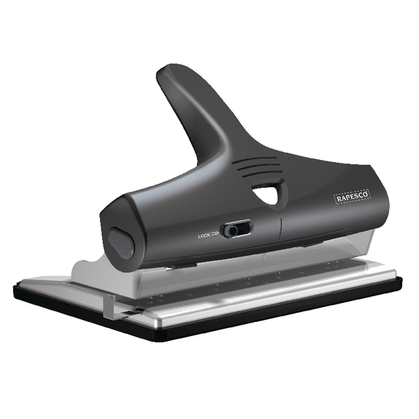 Rapesco 95 Adjustable Heavy Duty Punch Black PF95G2B2