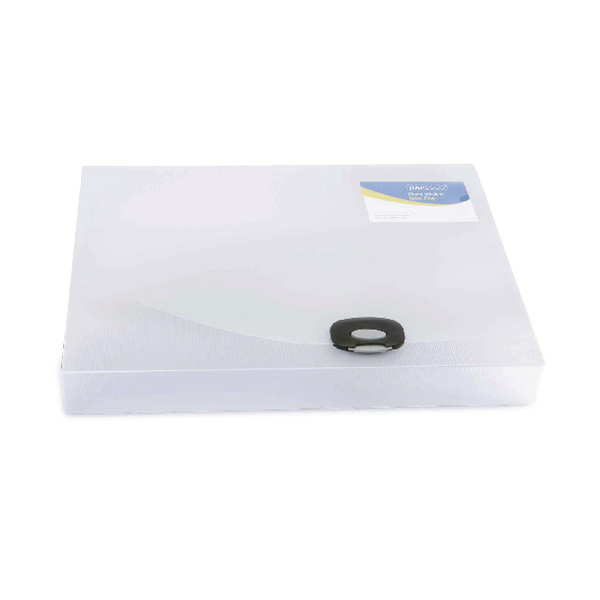 Rapesco Rigid Wallet Box File 40mm A4 Clear 0711