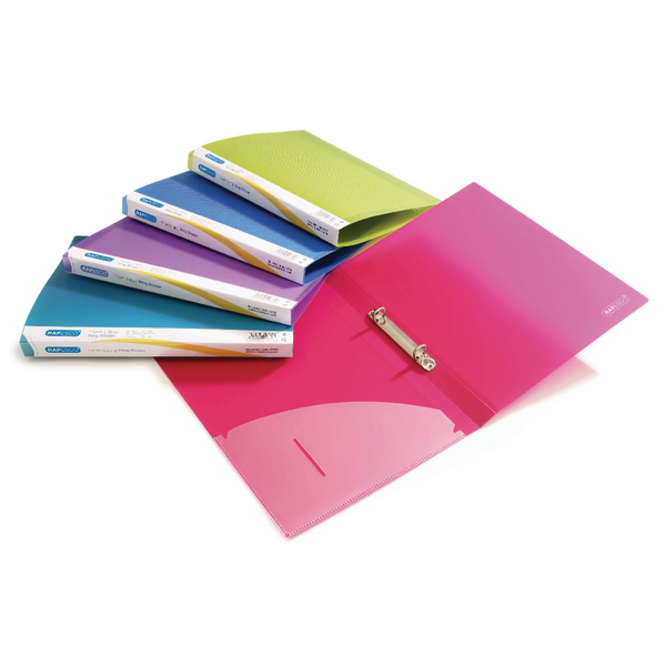 Rapesco 25mm 2 Ring Binder A4 Assorted (Pack of 10) 0716
