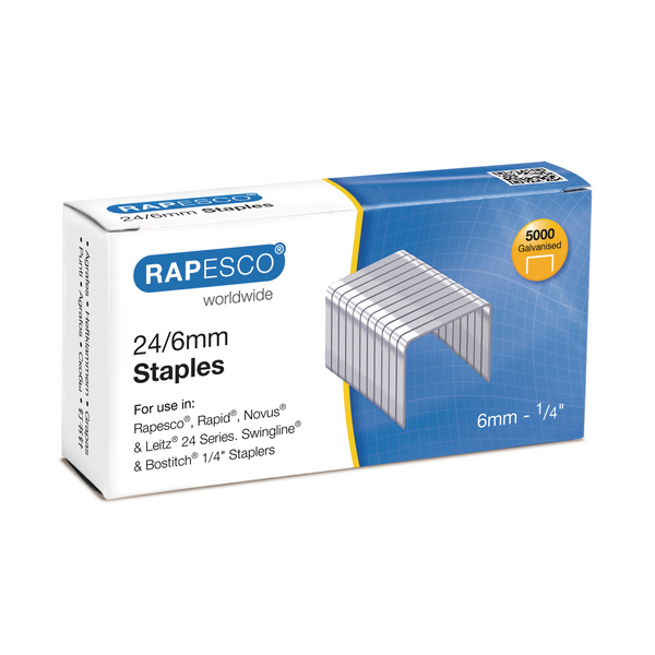 Rapesco 6mm 24/6 Staples (Pack of 5000) S24602Z3