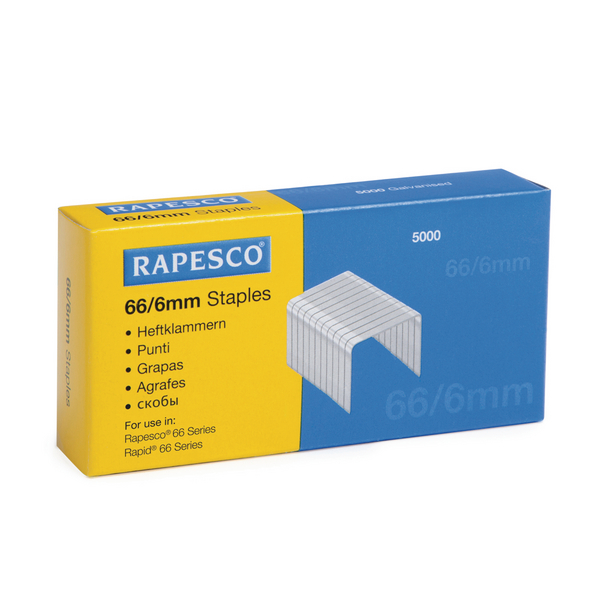 Rapesco Staples 6mm 66/6mm (Pack of 5000) S66600Z3