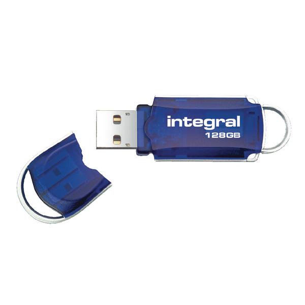 Integral Courier 128GB Flash Drive USB 2.0 INFD128GBCOU