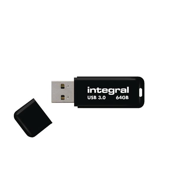 Integral Black Noir USB 3.0 64Gb Flash Drive INFD64GBNOIR3.0