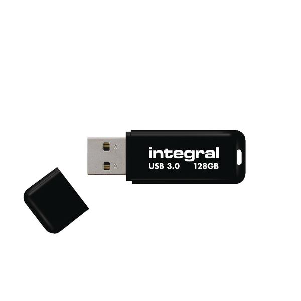 Integral Black Noir USB 3.0 Flash Drive 128GB INFD128GBNOIR3.0