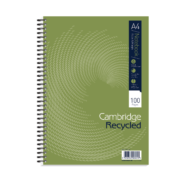 Cambridge Recycled A4 Wirebound Notebook Pack of 5 400020196