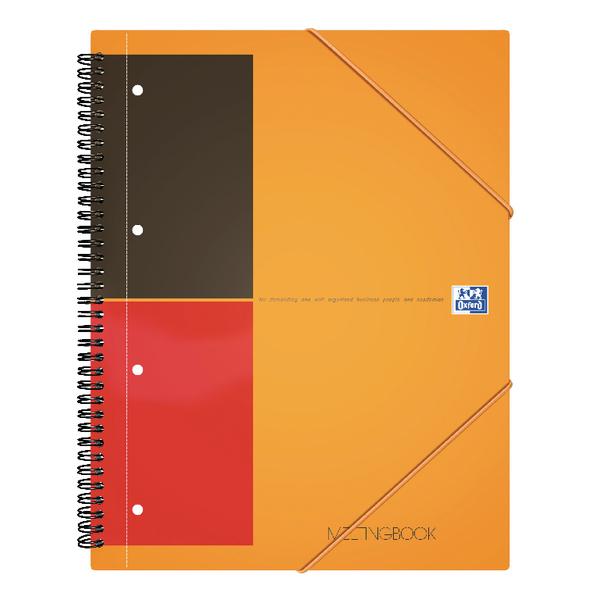 Oxford International A4 Plus Wirebound Polypropylene Meeting Book 100104296