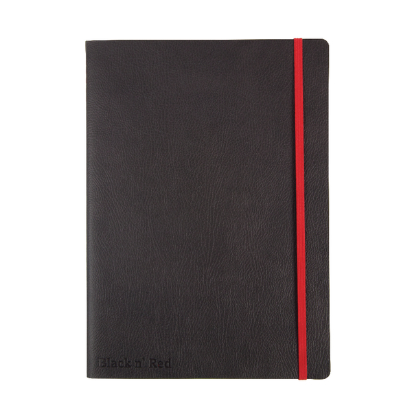 Black n Red B5 Black Soft Cover Notebook 400051203